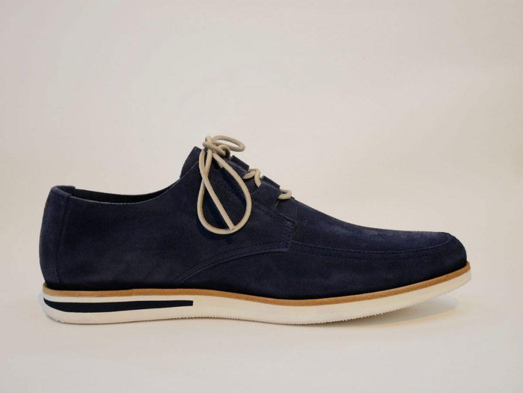 Blauer Herrenschuh Leder 1