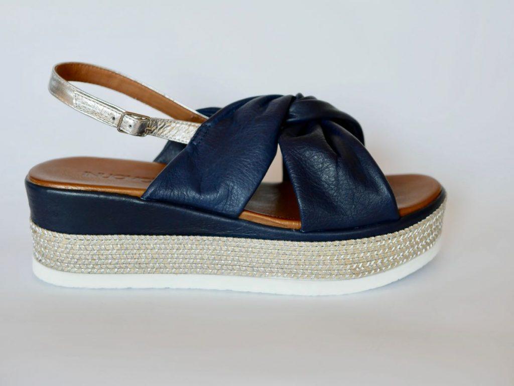 Echtleder Sandalette blau von Inuovo 2