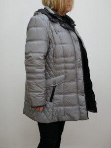 Damen Winterjacke Lebek silber 2