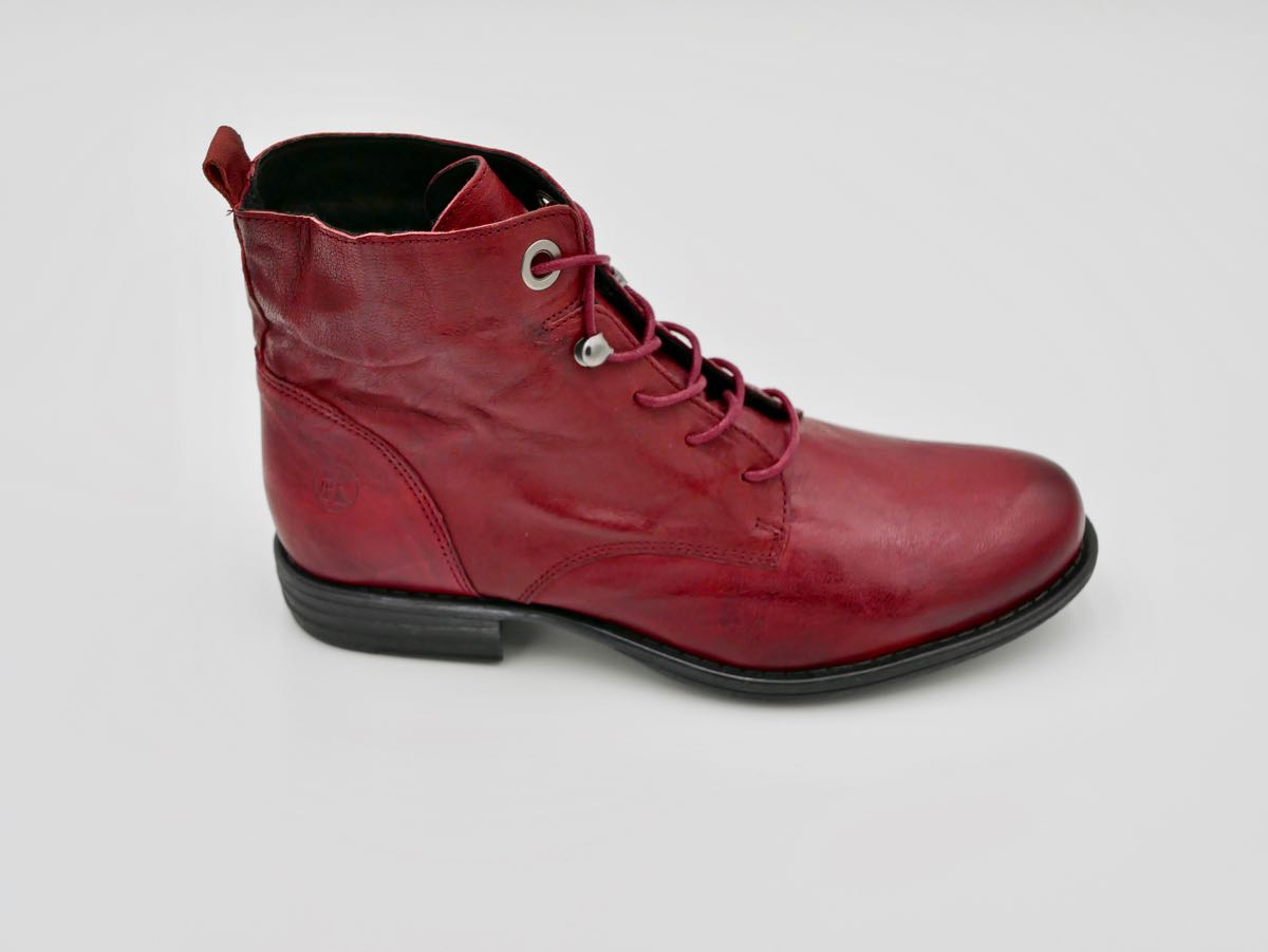 1d619a9b965b Stiefelette Echtleder rot