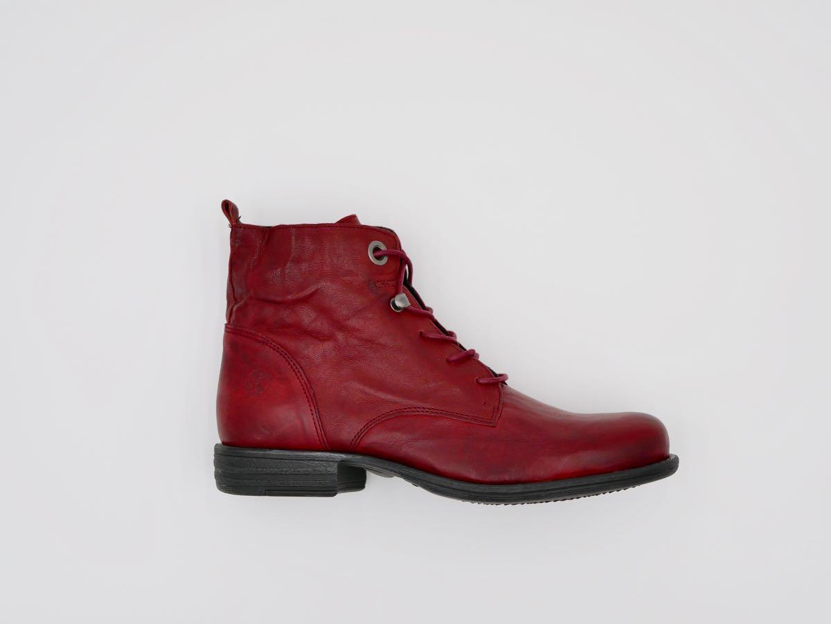 Frauenstiefelette rot Leder 5