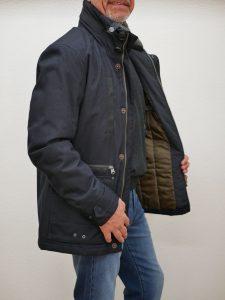Herren Winterjacke sportiv blau 4