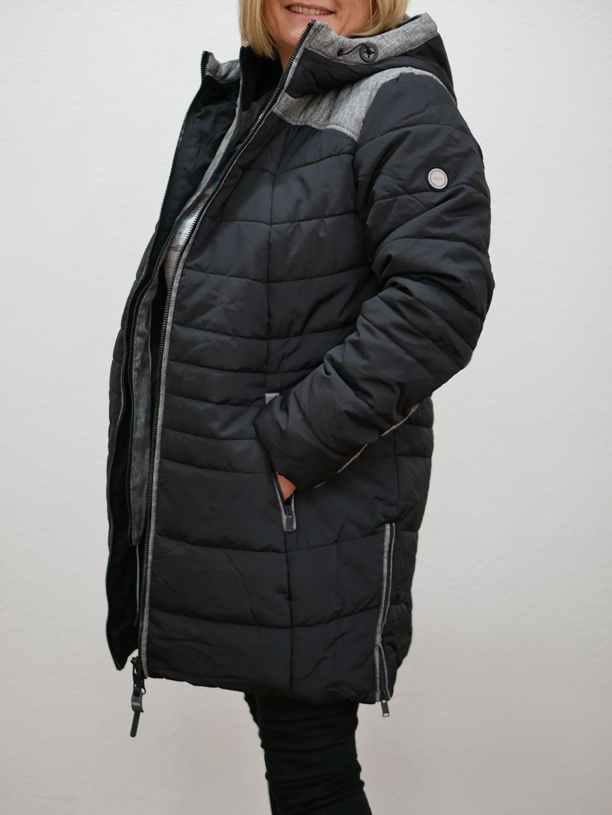 Kurzmantel schwarz von Cecil 5