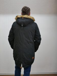 Naketano Herrenparka Winter schwarz 2