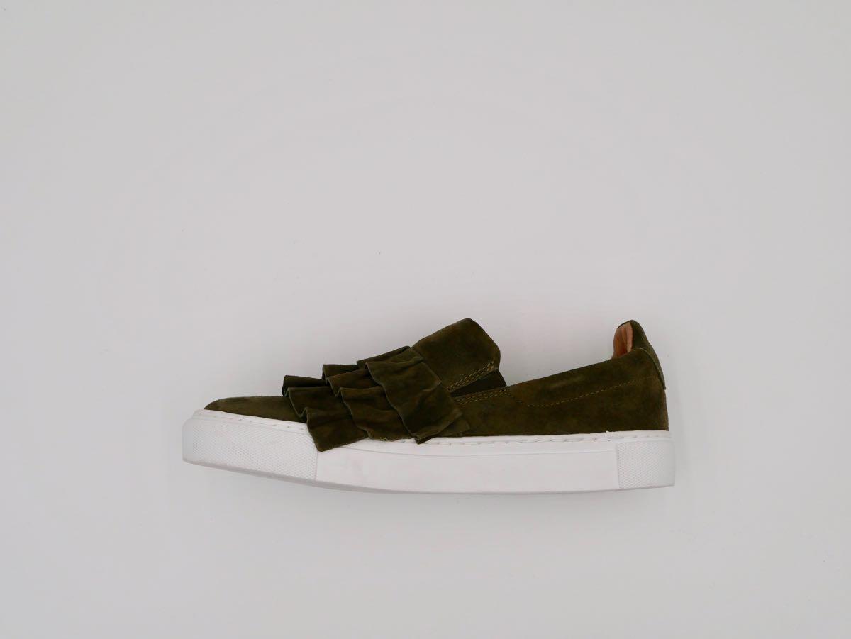 free shipping 0f8f4 14e9d Veloursleder Sneaker khaki - Modehaus Rieker Süßen, Kreis ...