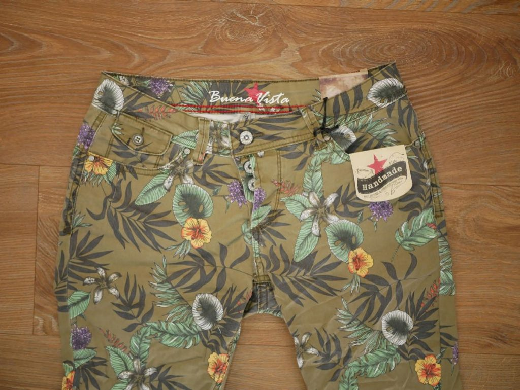 1902-J5267 Malibu CC Stretch Twill olive flower 2