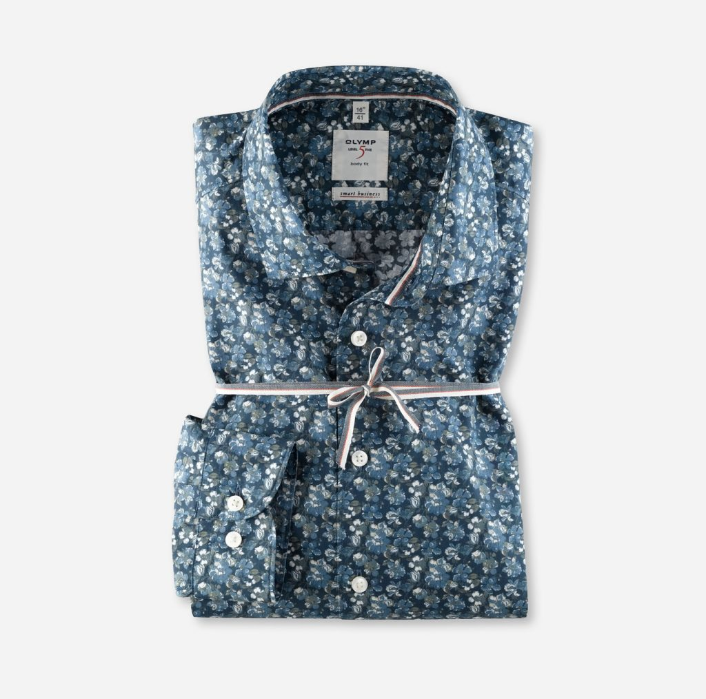 Olymp Smart Business Hemden floral gemustert