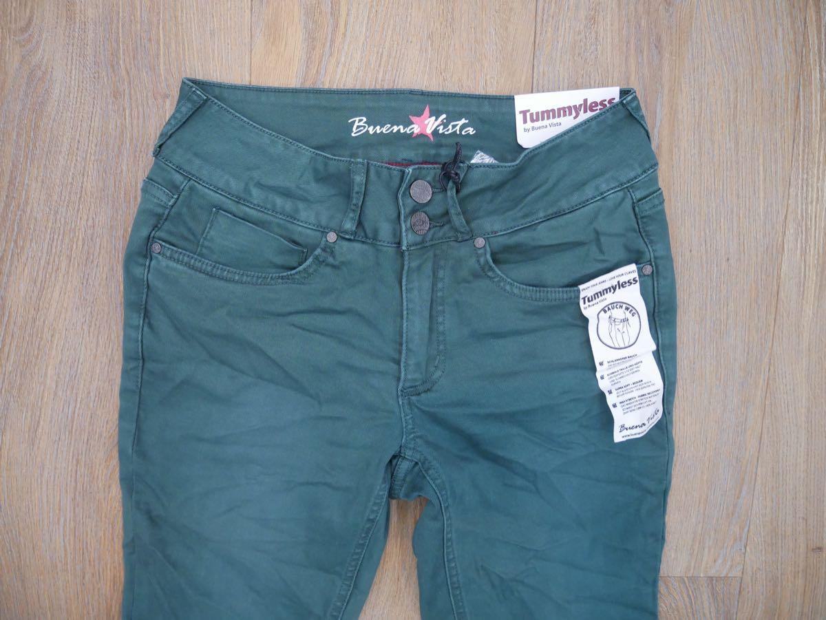 """Buena Vista Tummyless /""""Bauchweg/"""" Jeans schwarz"""