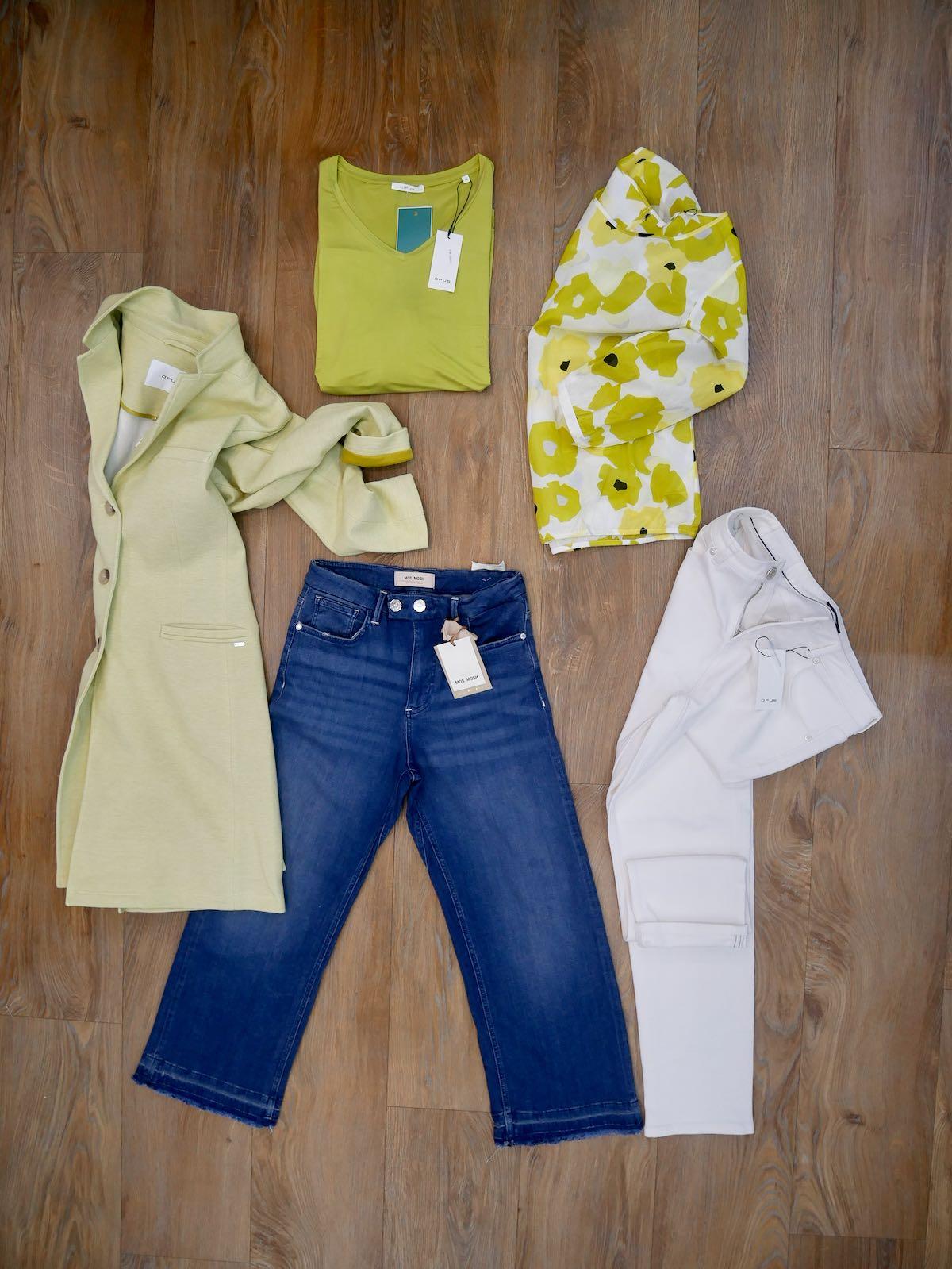 Opus Boyfriend Hose, Bluse, Shirt, Longblazer