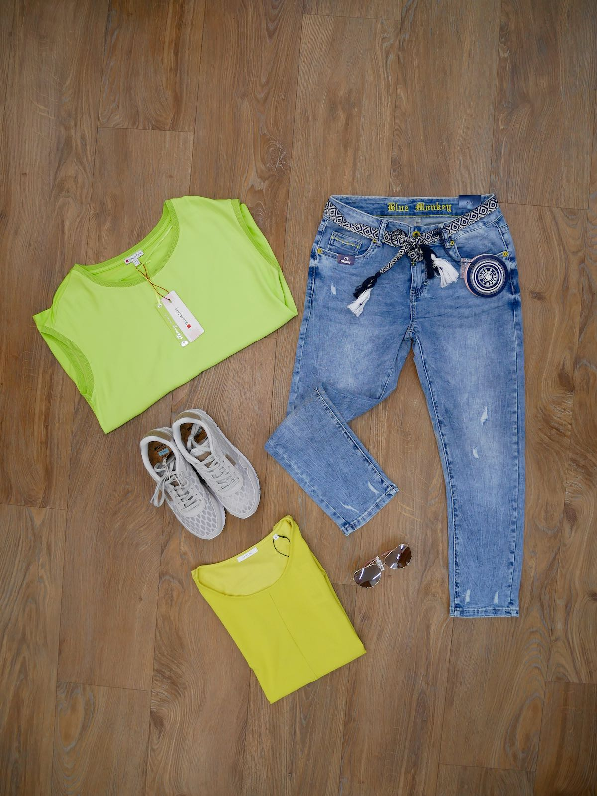 Blue Monkey Jeans - Woden Schuhe - Opus Shirt