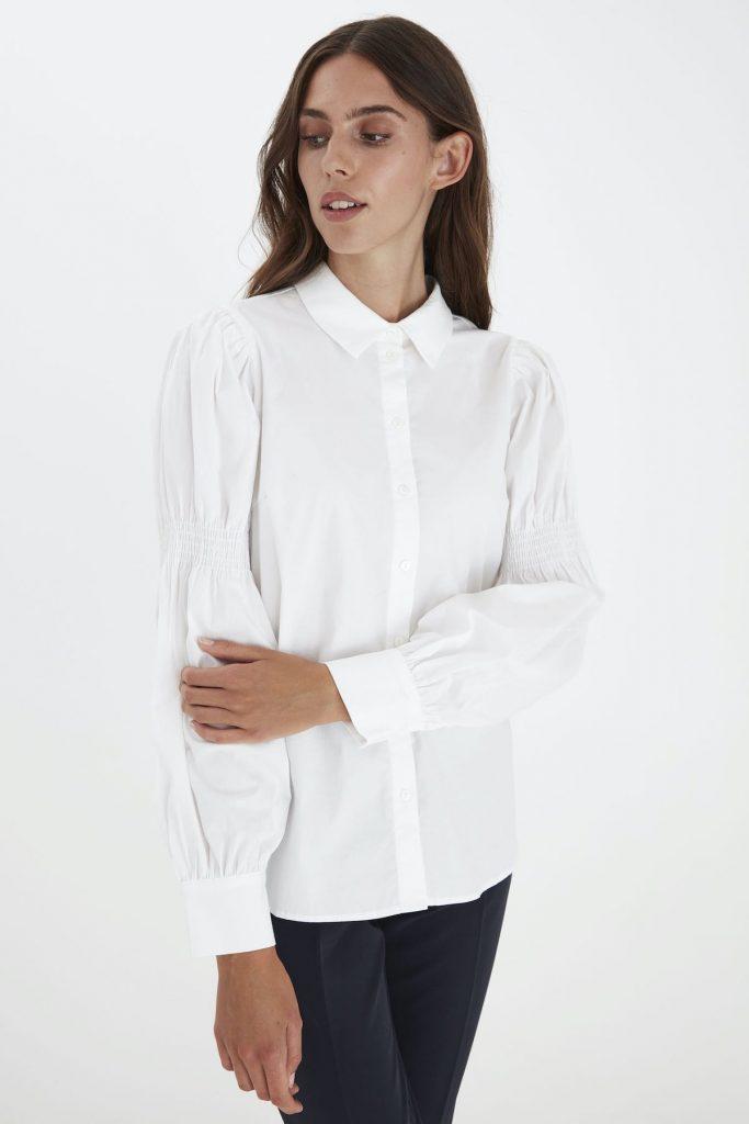 Elegante weiße Bluse von Ichi