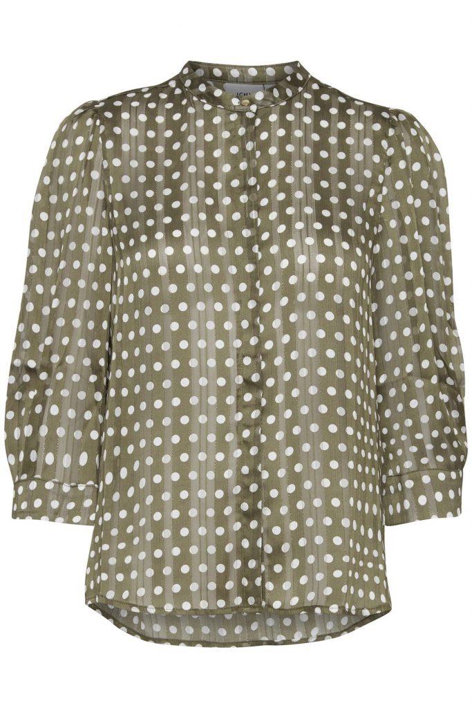 Gepunktete Ichi Bluse