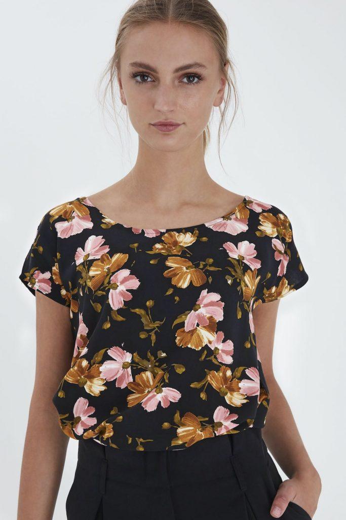 Ichi Bluse mit Blumendruck