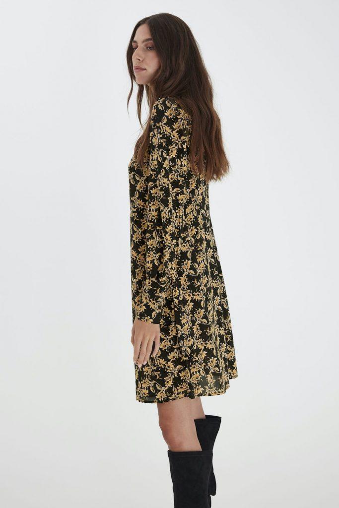 Ichi Kleid schwarz gold
