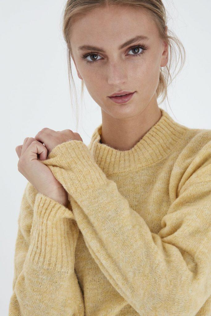 Ichi Pullover gelb