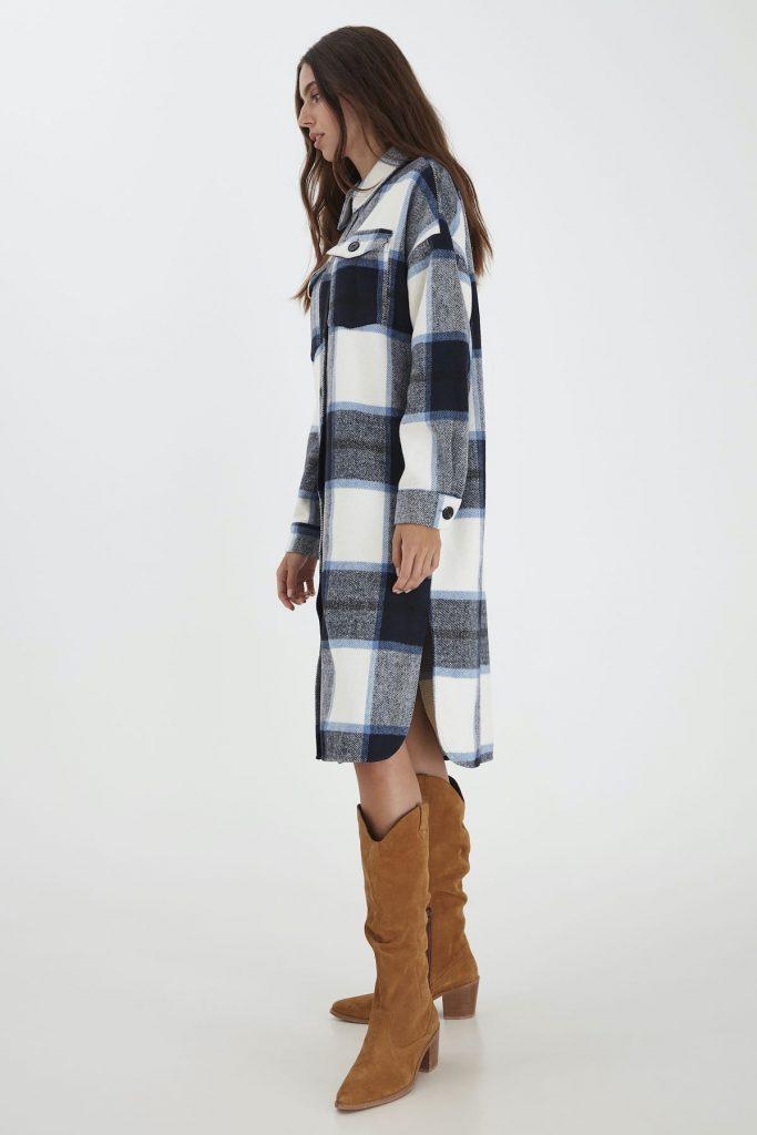 Mantel im Karodesign von Ichi